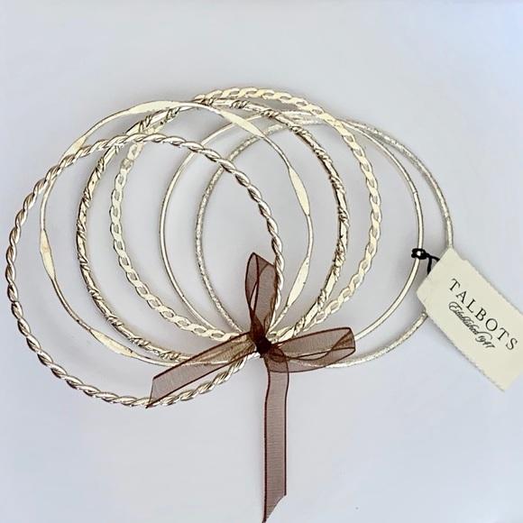 Talbots Silver Bangle Bracelets